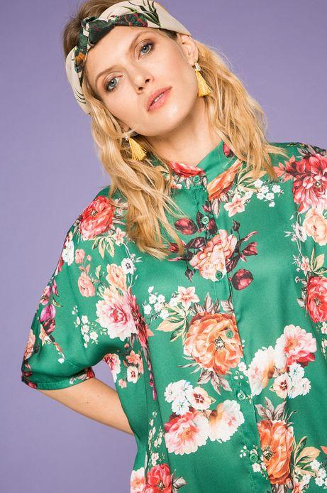Woman's Koszula Cute and Bleak zielona