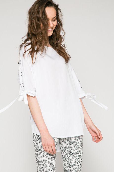 Woman's Bluzka damska Summer mix biała
