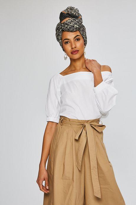 Woman's Bluzka damska African Beauty biała