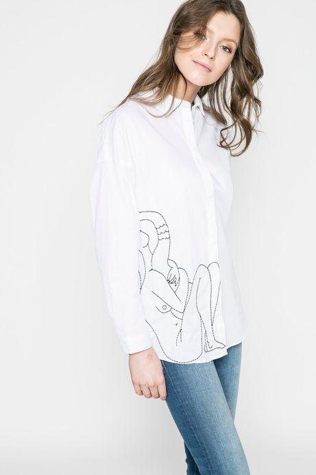 Woman's Koszula damska Girl Power biała