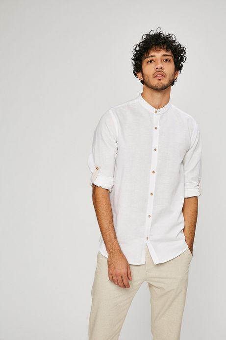 Lniana koszula męska On The Go biała