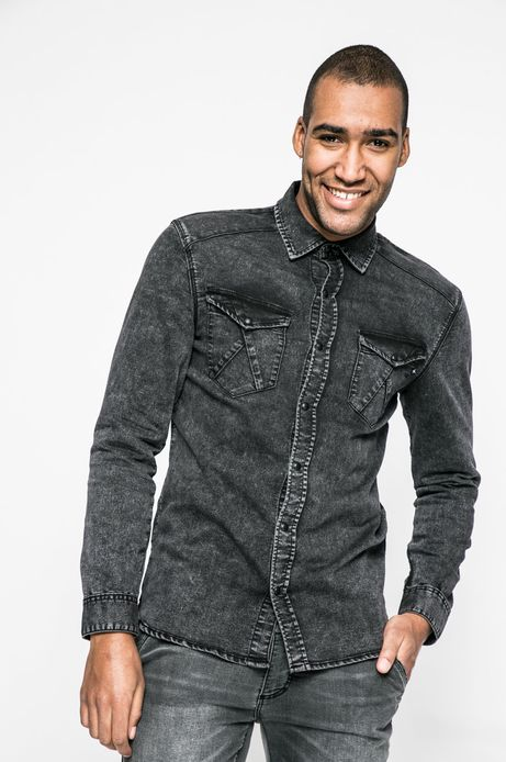 Koszula męska City Rhythmes czarna