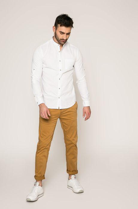Man's Koszula Slow Future biała