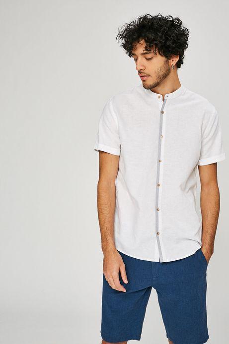 Lniana koszula męska Basic biała