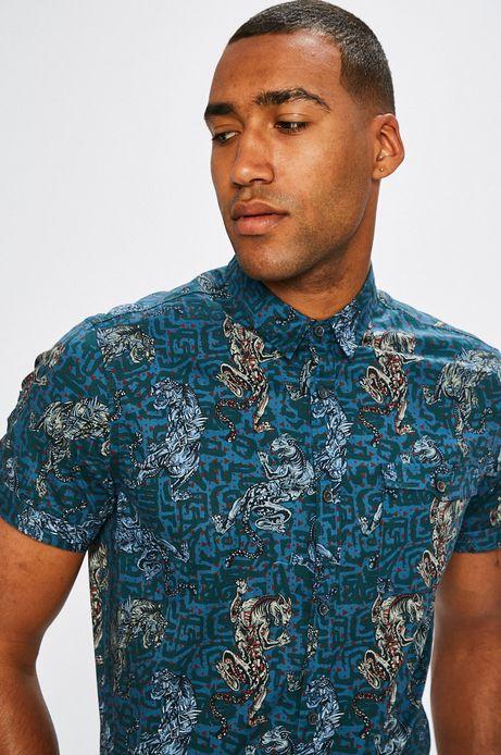 Man's Koszula męska African Roots granatowa