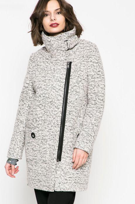 Woman's Płaszcz z domieszką wełny z podwyższonym kołnierzem szary