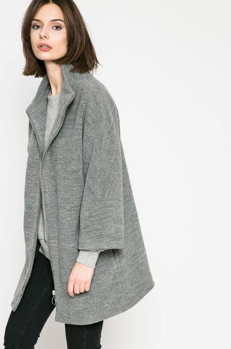 Woman's Wiosenny płaszcz damski szary