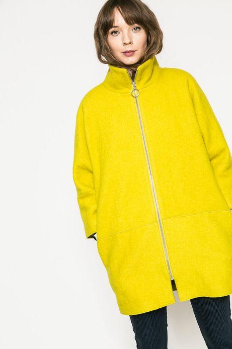 Woman's Wiosenny płaszcz damski żółty