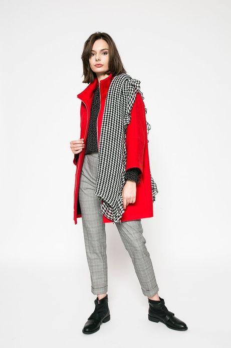 Wiosenny płaszcz damski czerwony