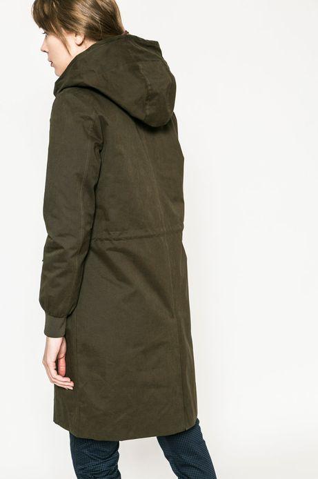 Woman's Przejściowa kurta damska z kapturem w kolorze zielonym