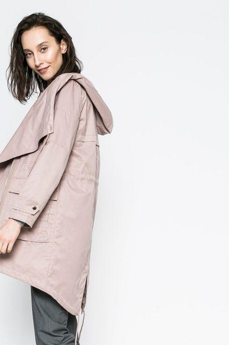 Przejściowa kurtka damska z kapturem rożowa