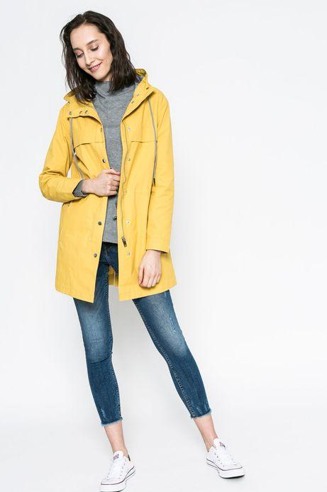 Woman's Wiosenna parka damska żółta