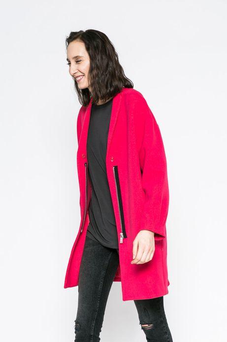 Wiosenny płaszcz damski różowy