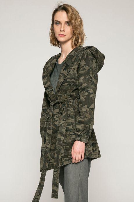 Woman's Wiosenna kurtka damska w militarne wzory