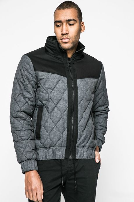 Pikowana kurtka męska szara