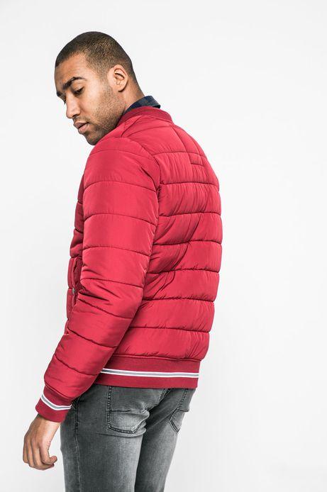 Ocieplana kurtka męska czerwona