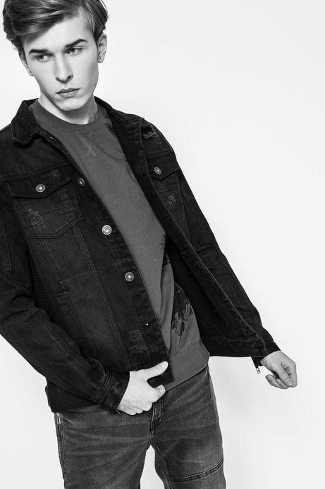 Jeansowa kurtka męska czarna