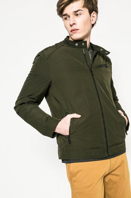 Man's Przejściowa kurtka męska lekko ocieplana zielona