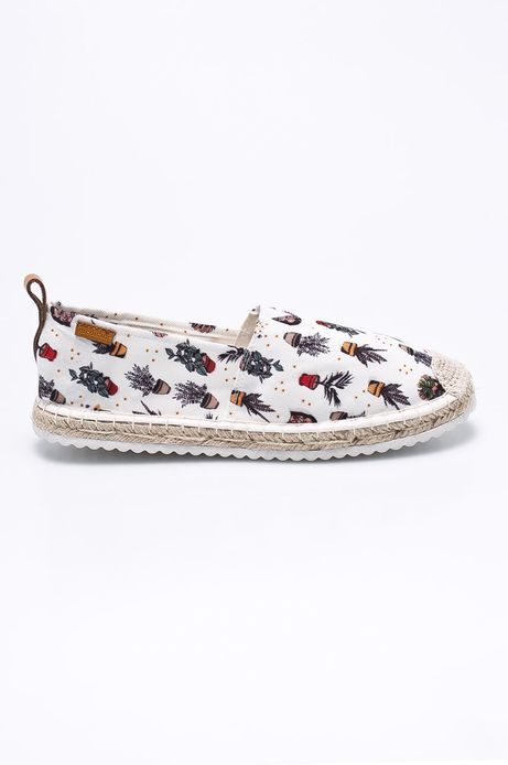 Woman's Espadryle damskie Cute and Bleak białe
