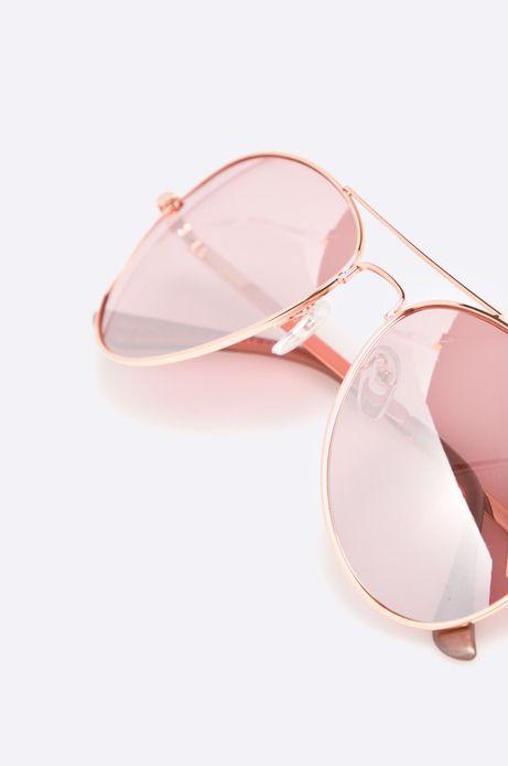 Okulary przeciwsłoneczne damskie aviator różowe