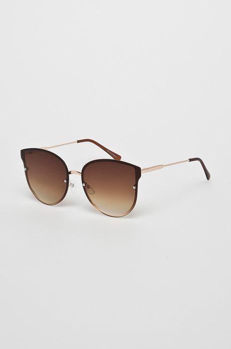 Okulary damskie Indochine brązowe