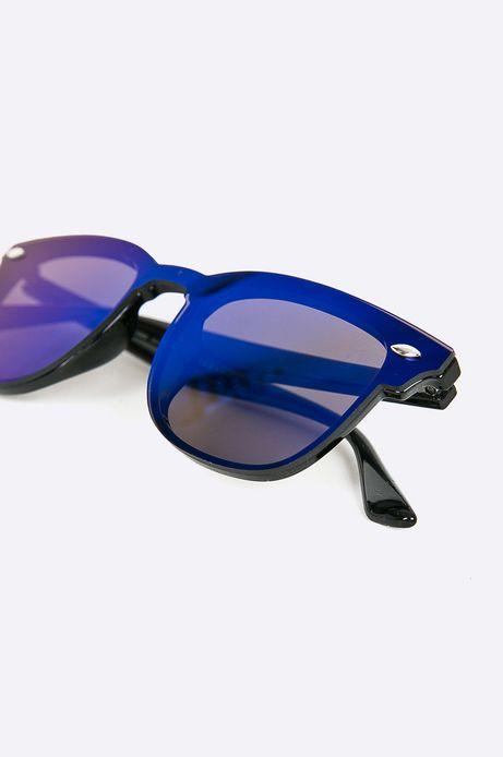 Okulary przeciwsłoneczne damskie w prostokątnej oprawie niebieskie