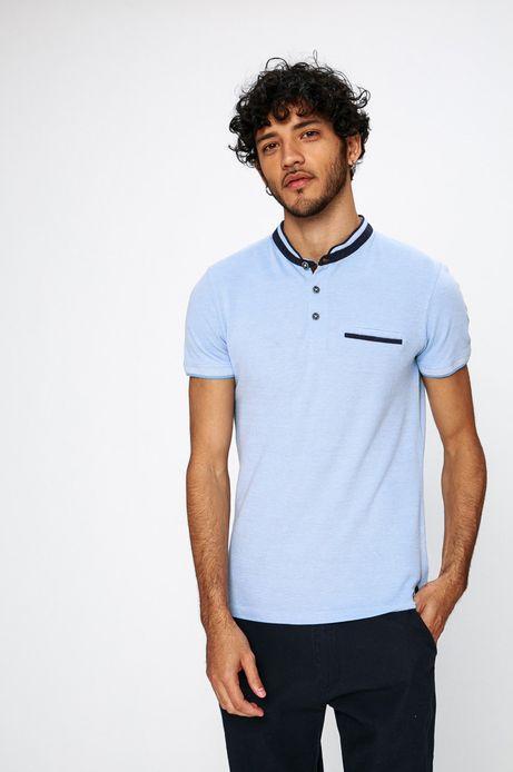 Man's Polo męskie Traveller niebieskie