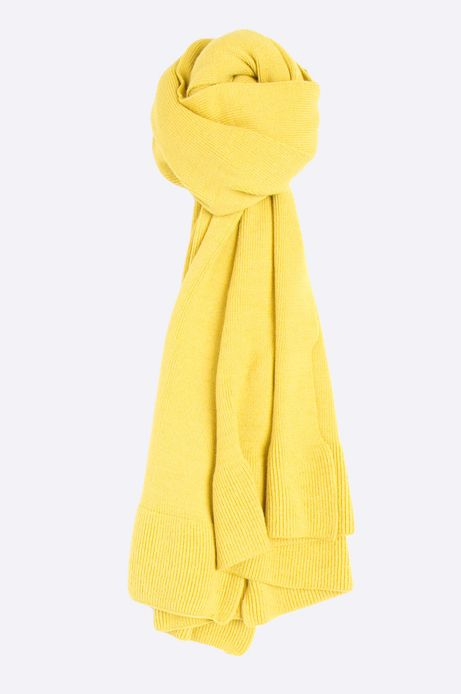 Szalik damski Basic żółty
