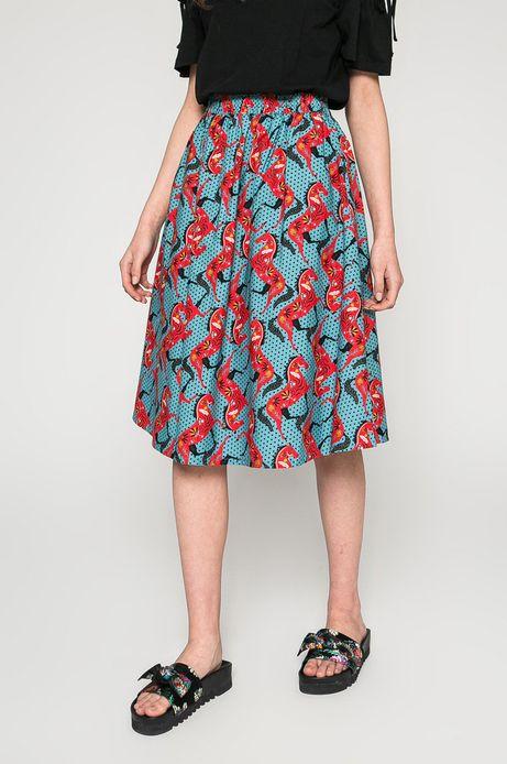 Woman's Spódnica Basic turkusowa