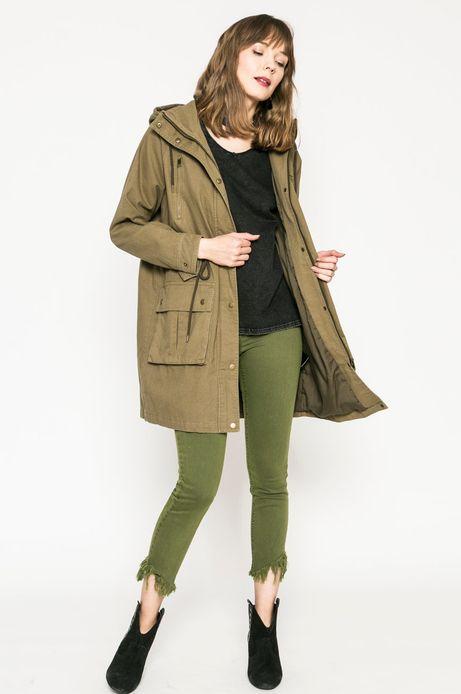 Jeansy damskie SLIM FIT zielone