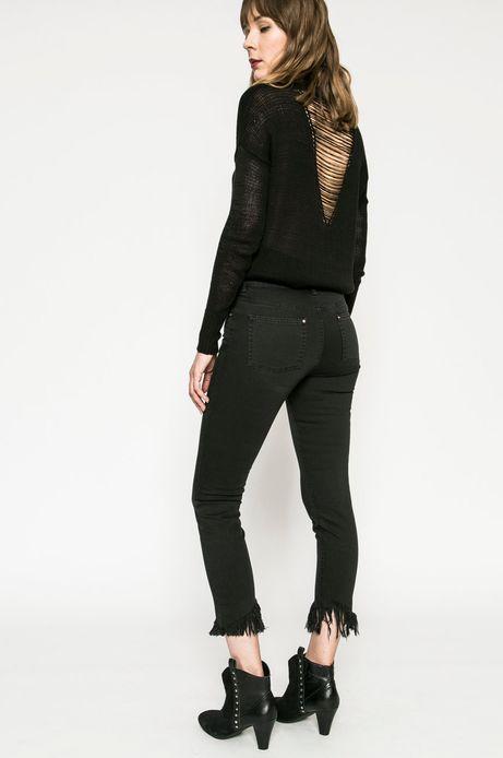Jeansy damskie SLIM FIT czarne