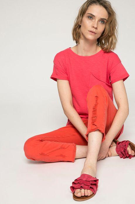 Jeansy damskie czerwone