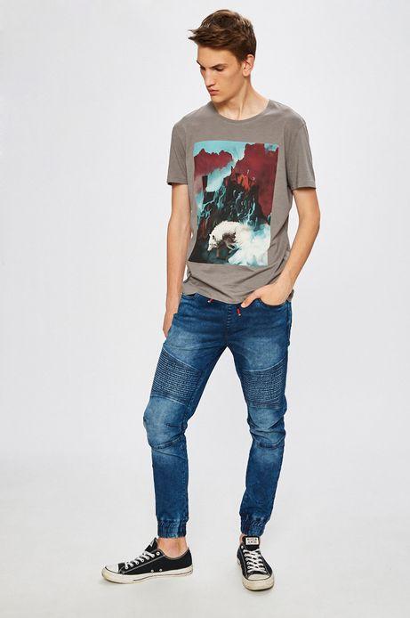 Jeansy męskie Basic niebieskie