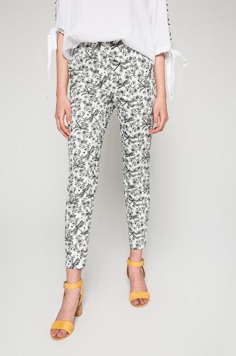 Woman's Spodnie damskie Basic białe