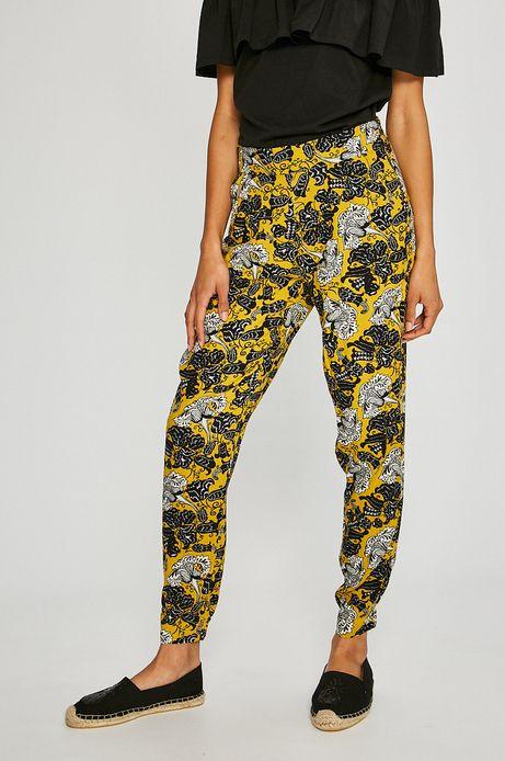 Spodnie damskie Basic żółte