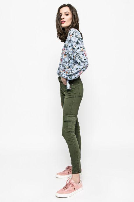Spodnie damskie Girl Power zielone