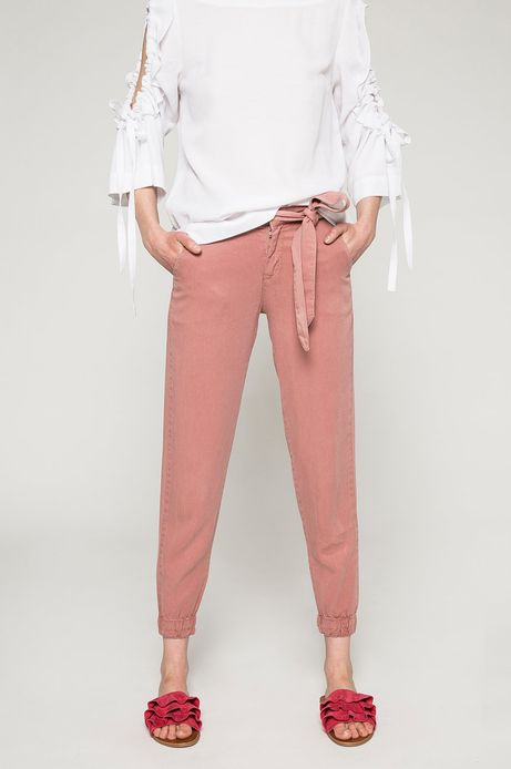 Spodnie damskie Basic różowe