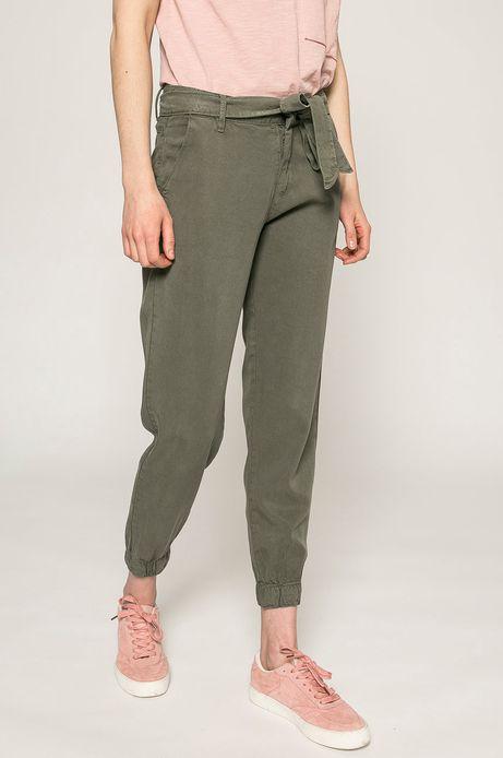 Spodnie damskie Basic zielone