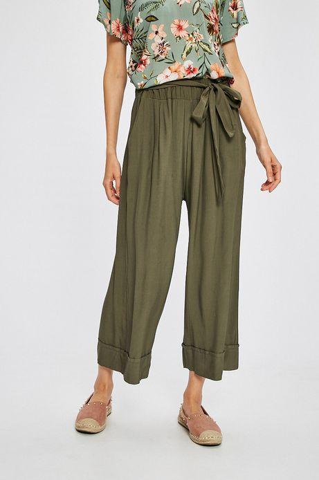Spodnie damskie Summer mix zielone