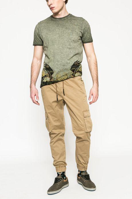Man's Spodnie męskie Basic złoty brąz