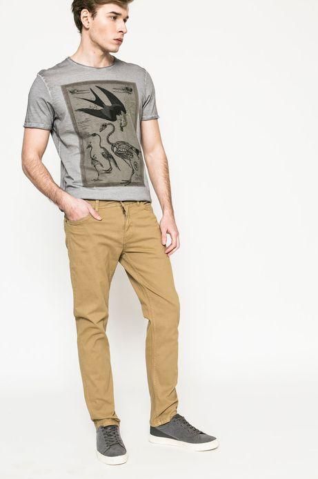 Spodnie męskie Basic piaskowe
