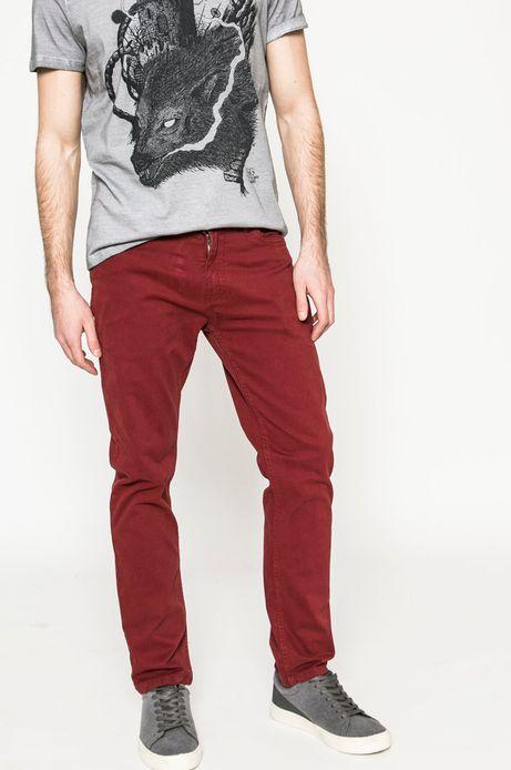 Spodnie męskie Basic mahoniowe