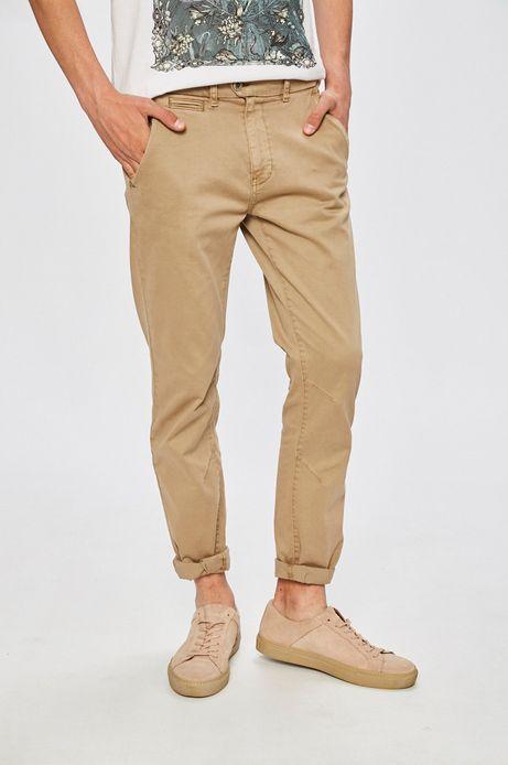 Man's Spodnie Basic beżowe