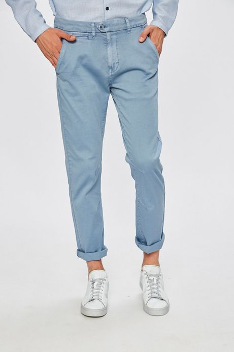 Man's Spodnie Basic błękitne