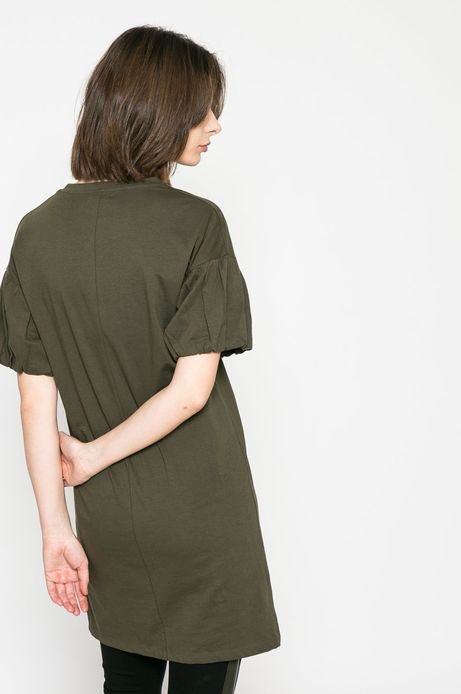 Sukienka damska Basic zielona