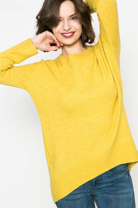 Woman's Sweter damski Basic żółty