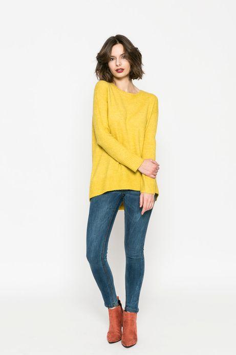 Sweter damski Basic żółty