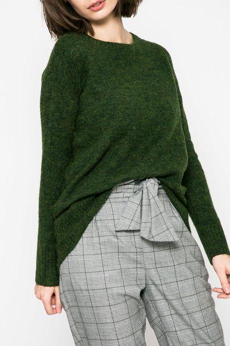 Sweter damski Basic zielony