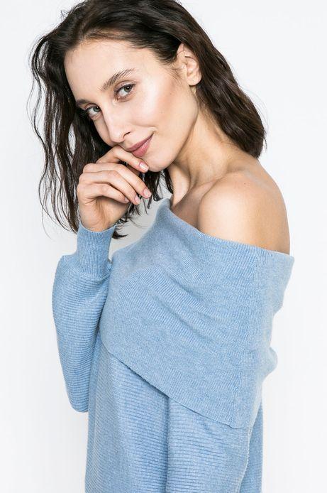 Sweter damski Basic niebieski