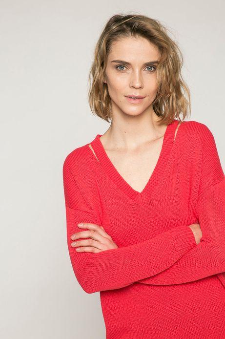 Woman's Sweter damski Basic czerwony róż